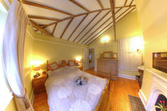 Cosy Old Cottage Interior Bedroom Royalty Free Stock Photos