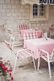 Cosy restaurant. Outdoor cosy restaurant in old town; croatia stock photography