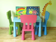 Cosy room. Colorful and cosy children's room with toys royalty free stock image