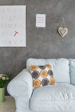 Cosy room with letters. Cosy and comfortable room with letters hanging on the wall royalty free stock photos