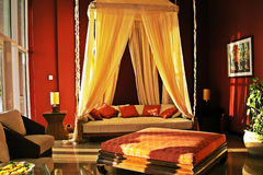 Cosy room. Nice room, full of warm, cosiness with a valance stock photo