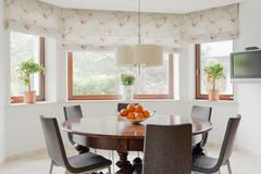 Cosy and stylish eating room Stock Images