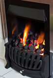 Cosy warm fire Stock Images