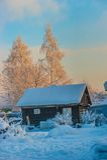Cosy winter house Stock Photos