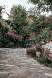 Cosy yard in Tbilisi royalty free stock photo