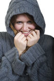 Cosy Young Woman Stock Photo