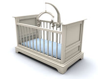 Cot for baby boy Stock Photography