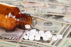 Coût élevé de médecine (dollar) Photographie stock libre de droits