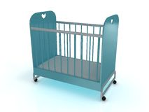 Cot on wheels with a mattress Royalty Free Stock Images