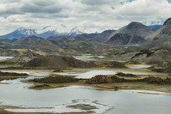 Cotacotani lakes in Lauca National Park. Northern Chile Stock Photos