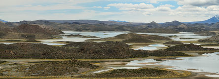 Cotacotani lakes in Lauca National Park. Northern Chile Royalty Free Stock Image