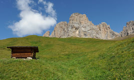 Cotage in the Dolomites Stock Image