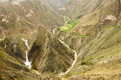 cotahuasi Περού φαραγγιών Στοκ φωτογραφίες με δικαίωμα ελεύθερης χρήσης