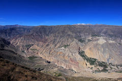 Cotahuasi Canyon Peru panoramic view. One of the deepest and most beautiful canyons in the world Stock Photos