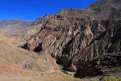 Cotahuasi Peru view into deep canyon Stock Photos