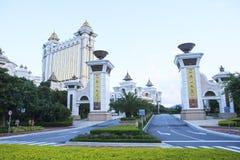 COTAI-REMSAMACAO CHINA-AUGUST 22 främre sikt av det stora och lyxiga hotellet för Galaxi hotell i Macao på august 22,2014 i Macao Arkivfoto