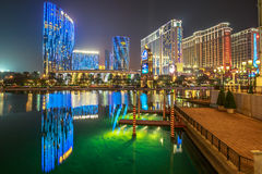 Cotai Strip Casino. Macau, China - December 8, 2016: Luxury resort Casino in Cotai Strip, Crown Towers, City of Dreams, Hard Rock, St Regis, Holiday Inn, Conrad Stock Images