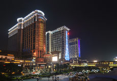 Cotai strip casino resort area of macau macao china Royalty Free Stock Photo