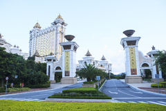 COTAI STRIP MACAU CHINA-AUGUST 22 front view of Galaxi Hotel big and luxury hotel in Macau on august 22,2014 in Macau China Stock Photo