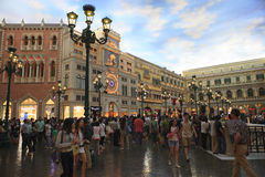 COTAI STRIP MACAU CHINA-AUGUST 22 visitor  walking and enjoy to Stock Photo