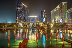 Cotai Strip by night Royalty Free Stock Images