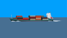 Cotainer ship stock illustration