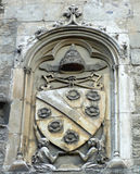 Cote of arms at the facade of Papal Palace in Avignon, France Stock Images
