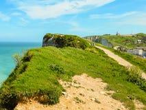 Cote d'Albatre or Alabaster Coast, Etretat, France Royalty Free Stock Image