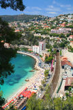 Cote d'Azur. Beautiful bay of Villefranche-sur-mer in the Cote d'Azur in France stock photo
