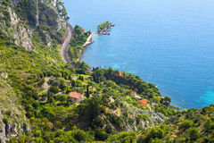 Cote d'Azur. Beautiful scene from Cote d'Azur, France royalty free stock photography