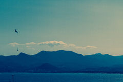 Cote D'Azur, Cannes sea and mountains, Southern France Stock Images