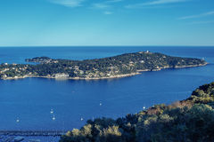 Cote d`Azur France. Luxury resort and bay of French riviera Stock Photos
