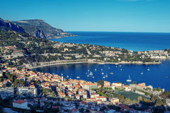 Cote d`Azur France. Luxury resort and bay of French riviera Royalty Free Stock Photos
