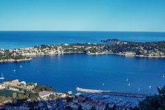 Cote d`Azur France. Luxury resort and bay of French riviera Stock Image