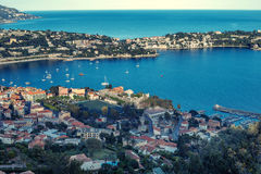 Cote d`Azur France. Luxury resort and bay of French riviera Royalty Free Stock Photo