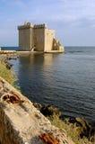 Cote d'Azur, las islas de Lerins: monasterio fortificado de la abadía S Imágenes de archivo libres de regalías