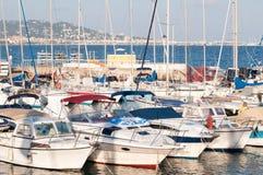 Cote d'Azur marina Arkivbilder