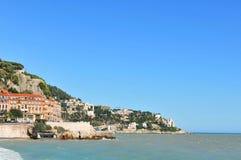 Cote d Azur. Marine landscape of Cote d Azur (Nice, France royalty free stock photo