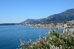 Cote d'Azur-Menton-France Royalty Free Stock Images