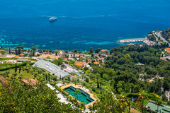 Cote d ` Azur nabrzeżne obrazy royalty free