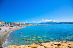 Cote d`Azur, Nice, France. Royalty Free Stock Photography
