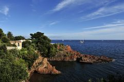 Cote d Azur, Provence, Francja zdjęcie royalty free