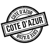 Cote D`Azur rubber stamp Stock Photo