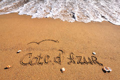 Cote d'Azur sign Royalty Free Stock Images