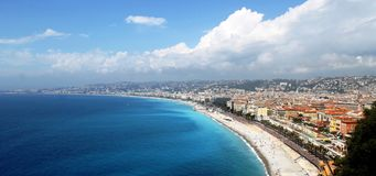 COTE D`AZUR View of NICE stock image