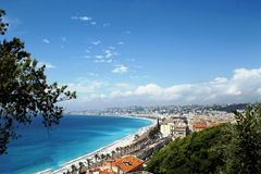COTE D`AZUR View of NICE stock images