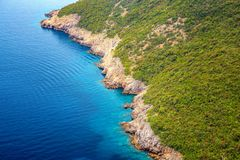 Beautiful view from above on the Cote d`azur. Cote d`azur view from the top Royalty Free Stock Photo