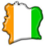 Cote d'ivoire button flag map shape Stock Photo