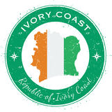 Cote D`Ivoire circular patriotic badge. Stock Photography
