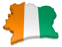 Cote d'ivoire (clipping path included) Royalty Free Stock Photos